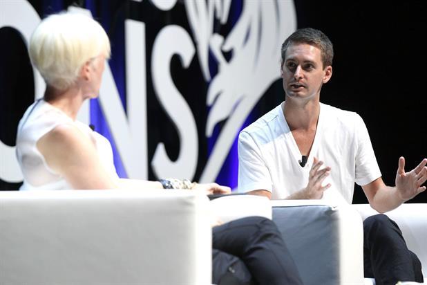 Cosmopolitan editor-in-chief Joanna Coles talks to SnapChat's Evan Spiegel