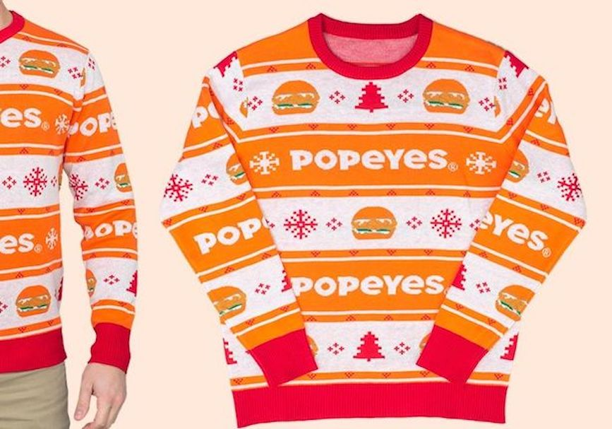 Is Popeyes the best -- or ugliest -- holiday sweater?