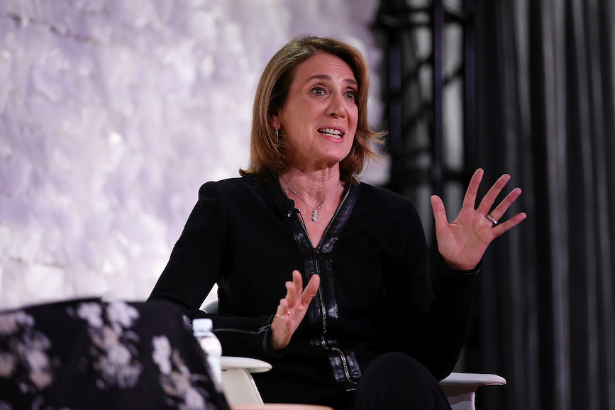 Edelman convened executives including Ruth Porat, CFO of Google and Alphabet, to discuss falling trust in institutions. (Photo credit: Getty Images).