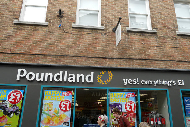 How much? A Poundland in York (Credit: Mikey via Flickr)
