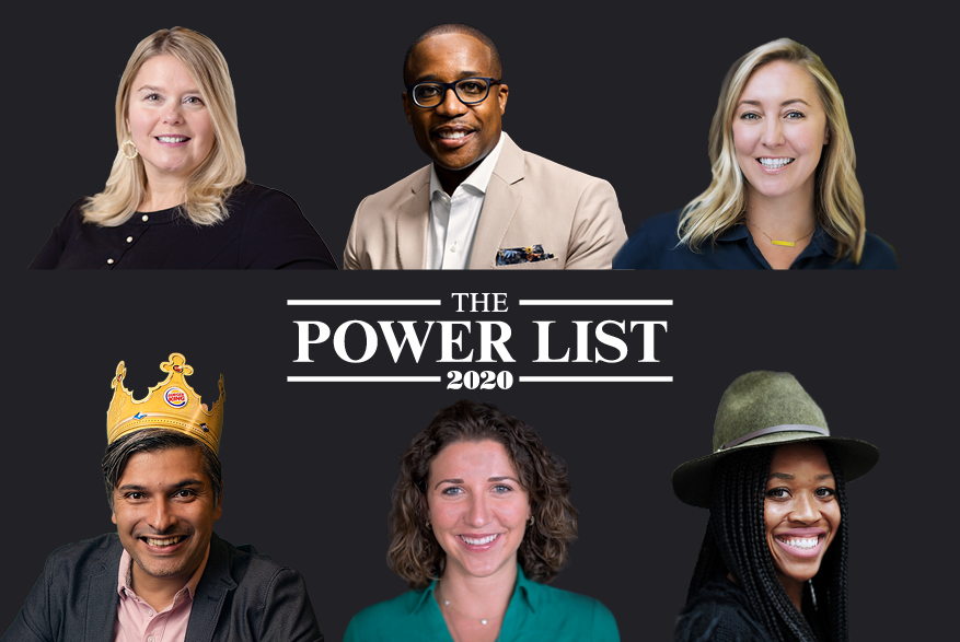 Power Listers Melissa Brotz, Damon Jones, Janine Pelosi, Fernando Machado, Hilary McQuaide, Kristal Howard.