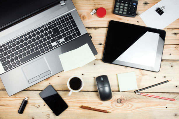 Laptop, mobile, contact book: all you need to start an agency (Credit: Thinkstock)
