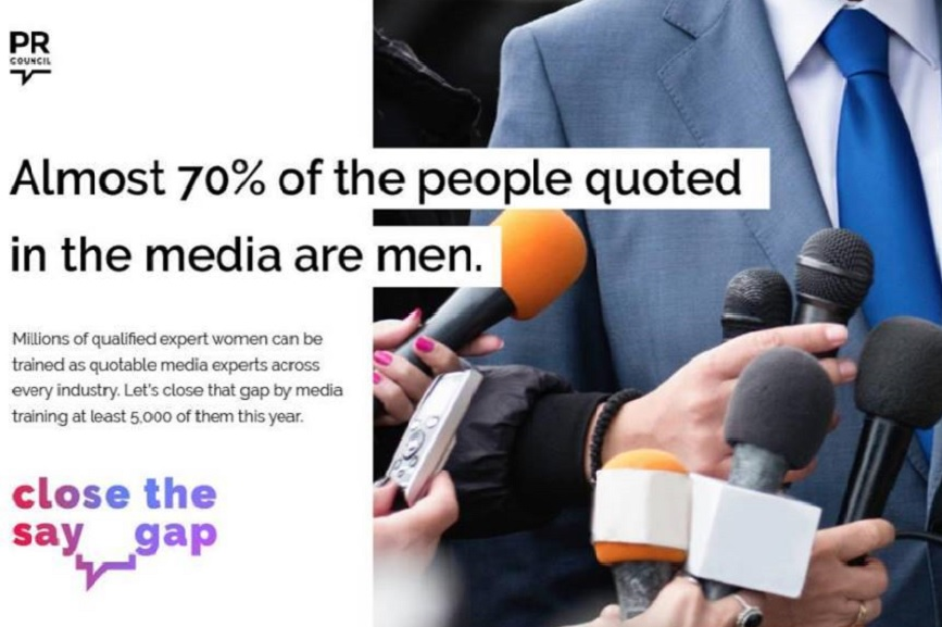 PR Council is pushing to 'close the say gap' this International Women's Day