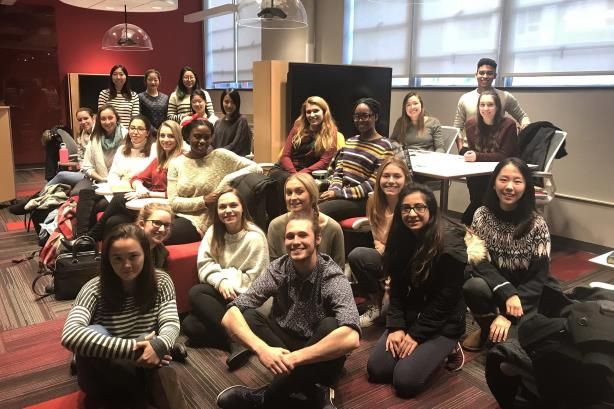 The executive board of PRLab at Boston University (Image via Facebook).