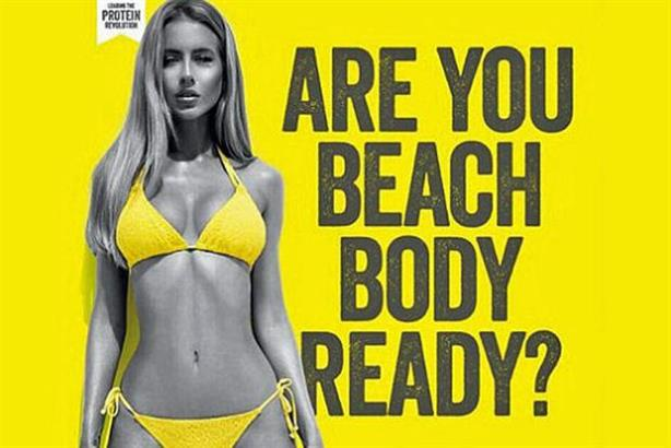 The Times Square version of Protein World's controversial ad.