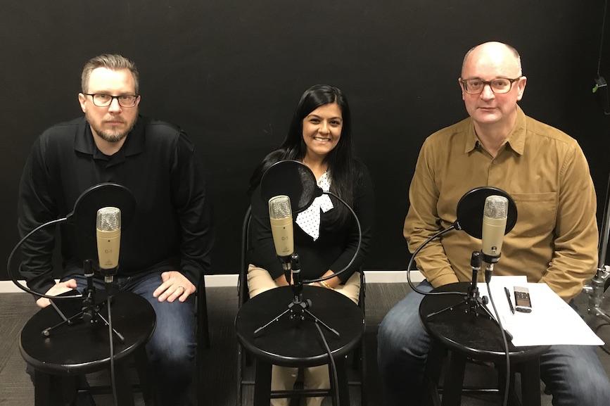L to R: Frank Washkuch, Natasha Priya Dyal, Steve Barrett