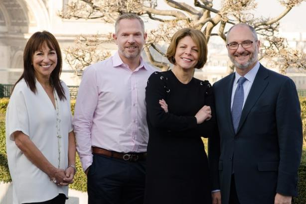 Janet Winkler (left), chief strategy officer, Matt McNally, president of Digitas Health LifeBrands and chief media officer, Alexandra von Plato, group president, North America, and Nick Colucci, Publicis Health CEO.