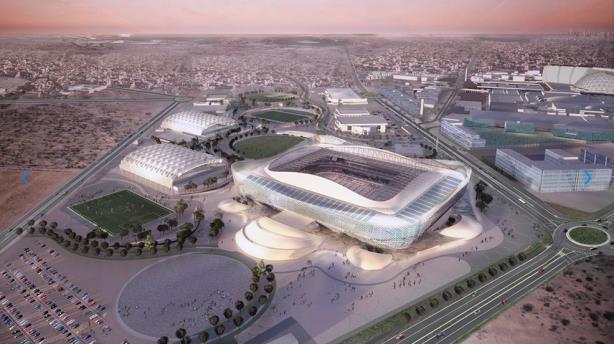 The design for Al Rayyan stadium in Qatar. (Image via FIFA.com).