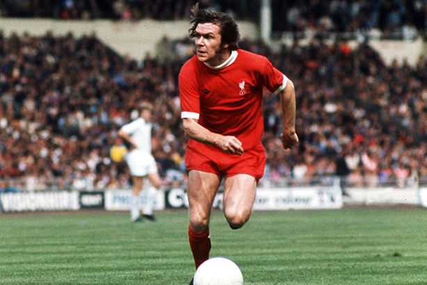 Hal: Chases the ball during the 1974 Charity Shield match at Wembley (Credit: Colorsport/REX_Shutterstock)