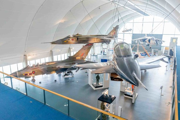 New attractions: One of the new exhibitions at the RAF Museum in London (credit: Benedict Johnson)
