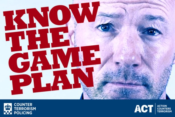 Ex-England striker Alan Shearer: Backing a new counter-terrorism campaign (credit: www.gov.uk)