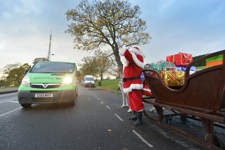 Green Flag: Will provide free cover for Santas across the UK this Christmas