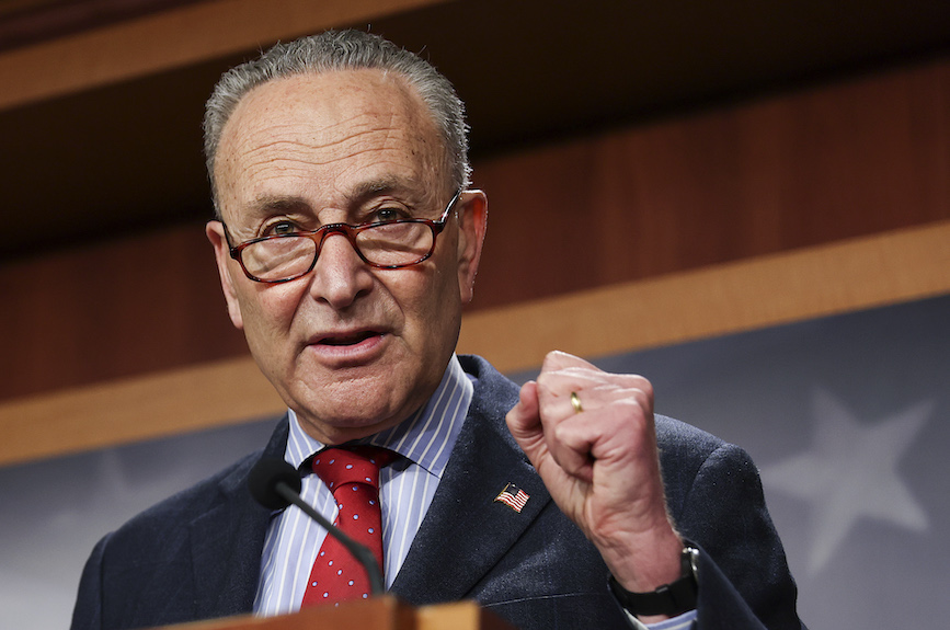 Senate Majority Leader Chuck Schumer wants a 10-figure vaccine campaign from the CDC. (Photo credit: Getty Images).