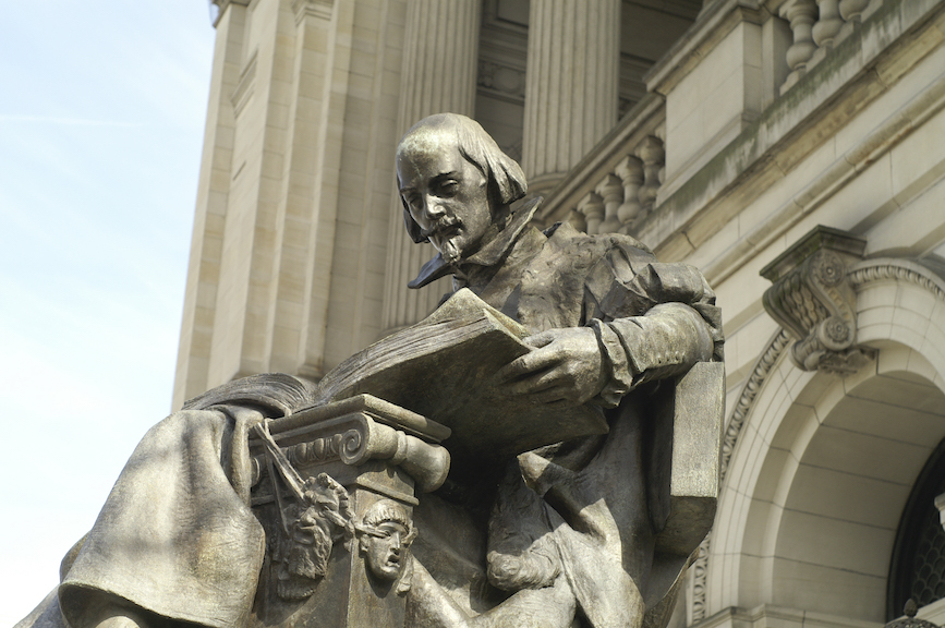 Statue of William Shakespeare outside the Carnegie. (Photo credit: Getty Images)
