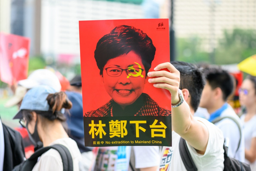 A lack of government trust in Hong Kong under the leadership of Carrie Lam