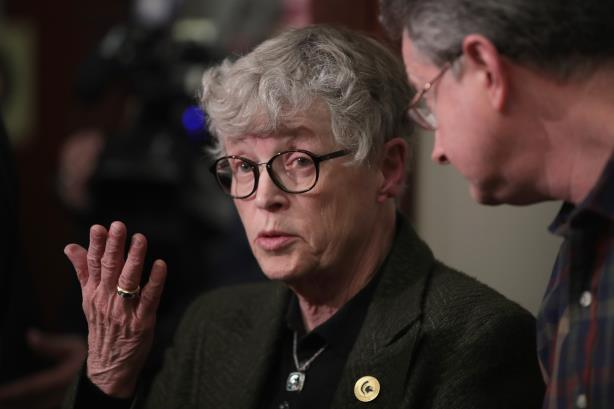 Former Michigan State University president Lou Anna Simon