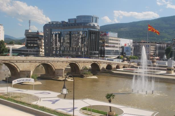 Skopje, the capital of Macedonia (Image via Wikimedia Commons).