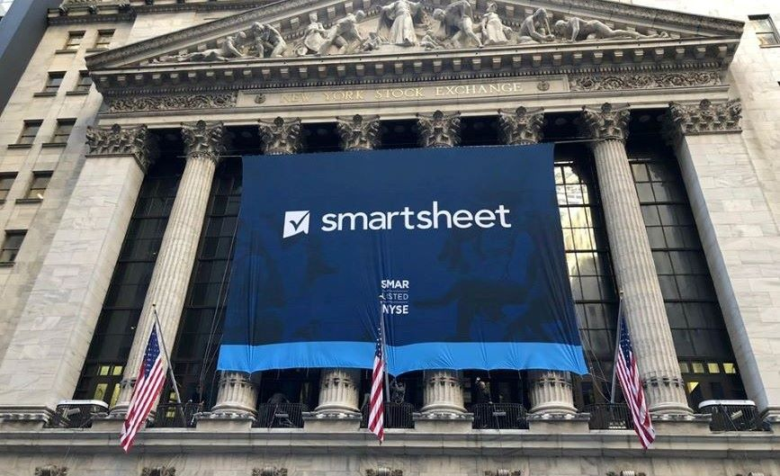 Smartsheet went public last April. (Image via Smartsheet's Facebook account).