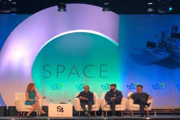 Martin Sorrell and other S4 executives at CES
