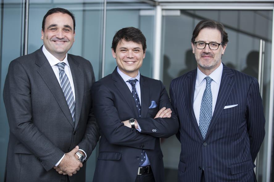 Key players: (left to right) Goyo Panadero, Adolfo Corujo and José Antonio Llorente