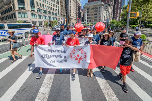 The 2019 Disability Pride march in New York. (Photo credit: Getty Images)