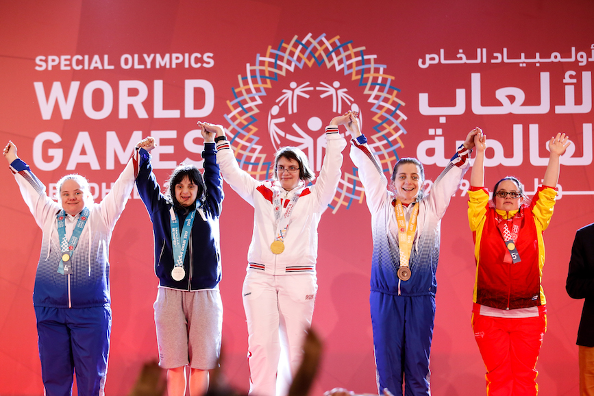 The Summer World Games in Abu Dhabi were the first to be held in the Middle East.