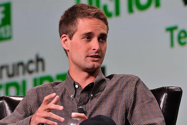 Evan Spiegel speaking at a TechCrunch event (Source: Wikimedia Commons).