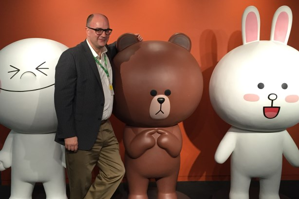 Steve Barrett at mobile services app Line's HQ in Tokyo