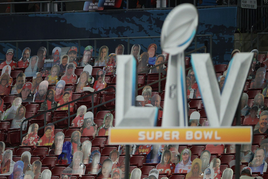 Raymond James Stadium in Tampa, Florida, site of Super Bowl LV. (Photo credit: Getty Images).