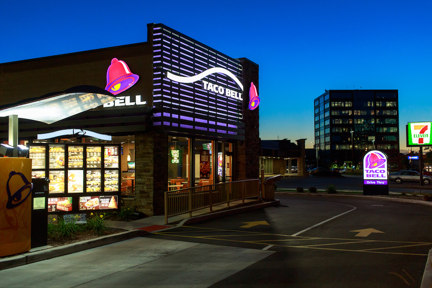 Yum Brands' Taco Bell is one brand that will benefit from its acquisition of Tictuk. (Photo credit: Getty Images).
