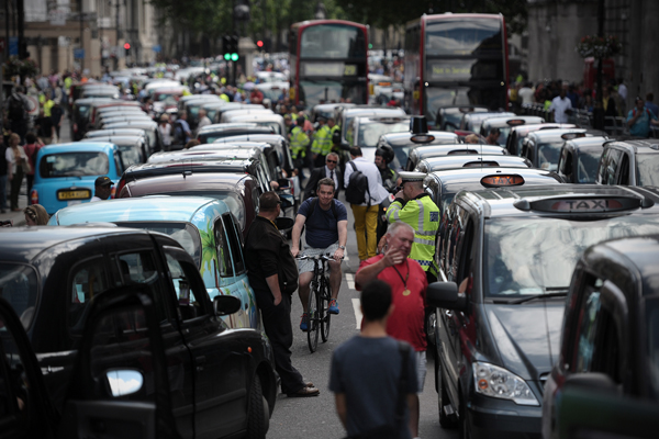 Taxi protests against Uber have caused disruption in London and other European cities