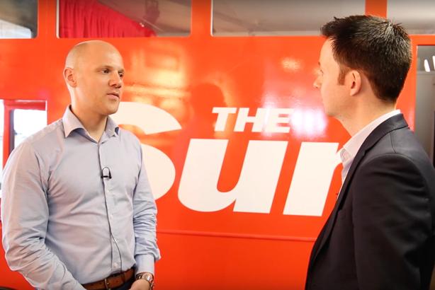 The Sun deputy editor Will Payne (left) talks to PRWeek's John Harrington
