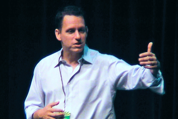 Peter Thiel (Image via Wikimedia Commons, By David Orban from Italy - Peter Thiel, CC BY 2.0)