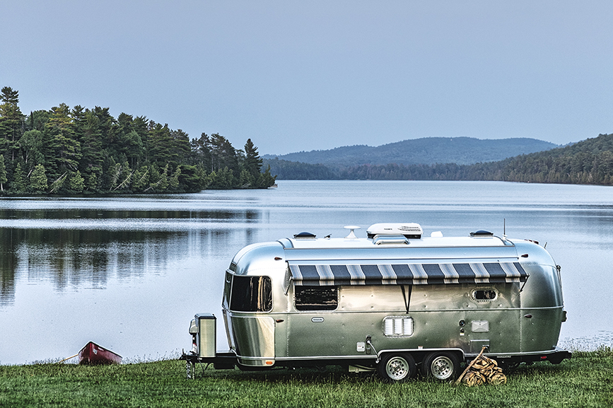 The Globetrotter RV from Thor's Airstream brand. (Photo credit: Thor Industries).