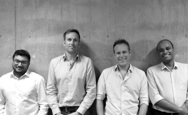 Threepipe's owners (l-r): co-founder Farhad Koodoruth, Earnie's Alistair Gammell, co-founder Jim Hawker and Spot's Tony Thomas