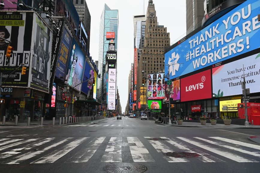 Empty streets and non-celebrity heroes presage a new normal post pandemic. (Photo credit: Getty Images.)