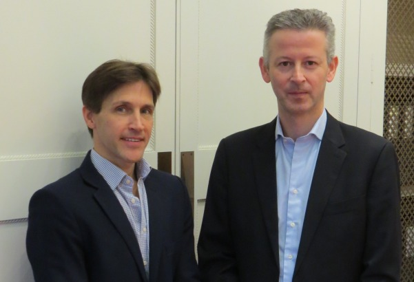 New agency: Scott Clark (left) with Oliver Parsons, founders of SO What Global