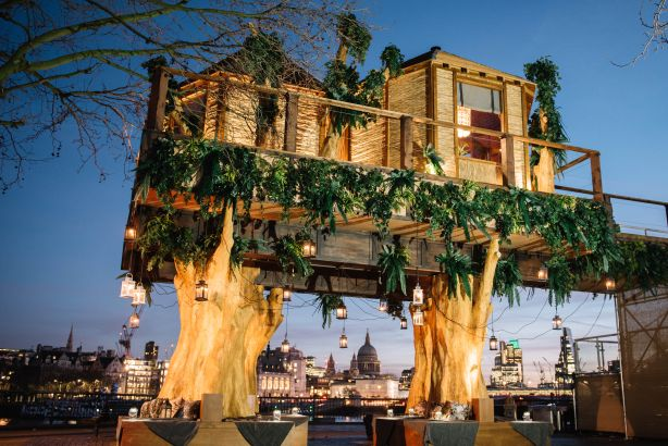 Stunt: Virgin Holidays and M&C Saatchi PR unveil giant treehouse on the Southbank