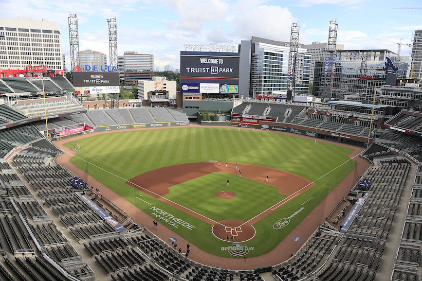 Truist Park, home of the Atlanta Braves. (Photo credit: Getty Images).