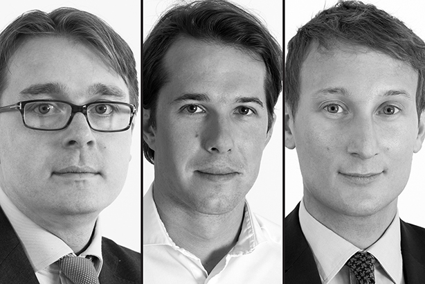 New partners: (left to right) James Macey White, Tom Murray and Martin Robinson