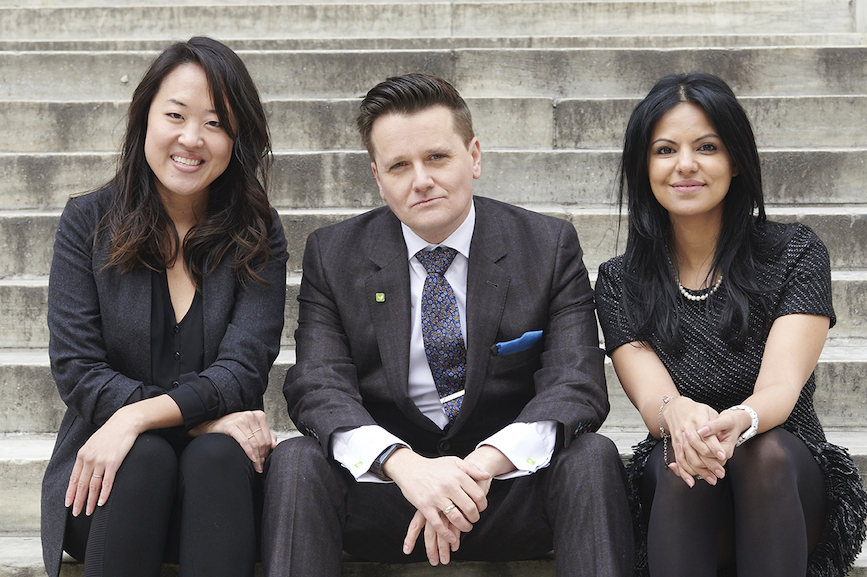 L to R: Binna Kim, president; Dan Simon, CEO; Ishviene Arora, COO. (Photo credit: James Smolka)