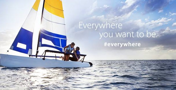 Visa's ongoing Everywhere You Want to Be campaign