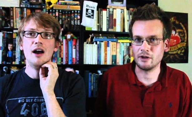 VlogBrothers is a popular YouTube channel created by novelist John Green (right) and his brother Hank Green.