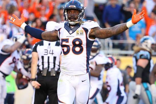 MVP: Denver's Von Miller (Image via the NFL's Facebook page).