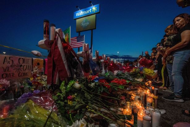Walmart in El Paso was the scene of another mass shooting of innocents. (Pic: Getty Images.)