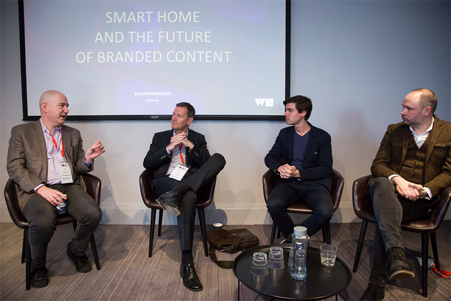 (l-r) Alan VanderMolen, president, WE Communications; Danny Rogers, editor-in-chief, PRWeek; Morgan Evans, head of communications, Samsung; Scott Somerville, head of advertising PR & campaigns, E.ON
