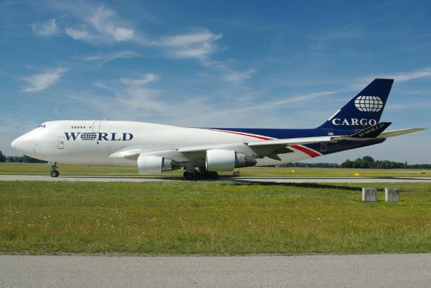 (Image via Wikimedia Commons, By Johannes - originally posted to Flickr as 29.07.09 MUC World Airways Cargo B747-400 N740WA, CC BY 2.0, https://commons.wikimedia.org/w/index.php?curid=7608033)