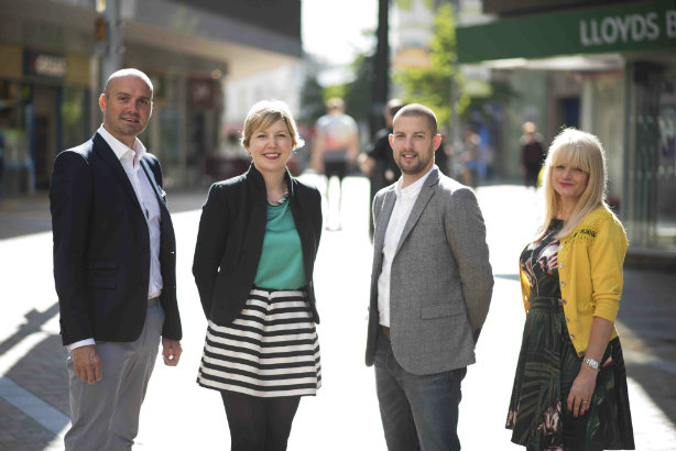 Rachel Clark (second from left) leads PR division of Leeds launch the Wrapped Agency
