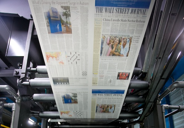 The new edition rolling off the press