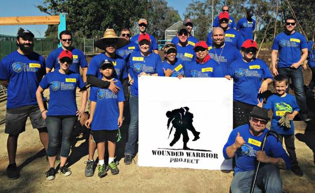 Wounded Warrior Project volunteers at a park restoration project in San Diego last November